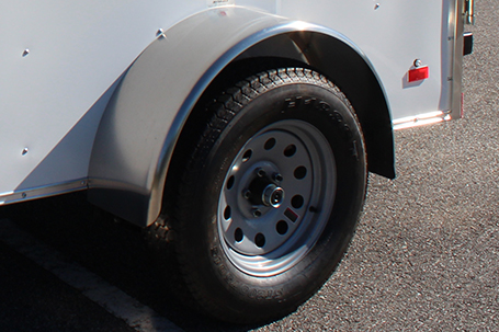 A spare trailer tire